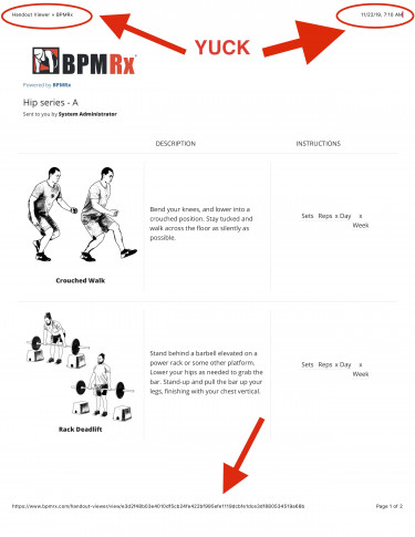 exercise handout headers arr